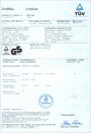 Click Picture for an enlargement of rotary hammer certificates.